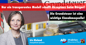 Iris Nieland (AfD) zur geplanten Reform der Grundsteuer: Nur ein transparentes Modell schafft Akzeptanz beim Bürger