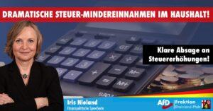 AKTUELLE STEUERSCHÄTZUNG FÜR RLP ZEIGT – Dramatische Steuer-Mindereinnahmen für kommenden Haushalt drohen